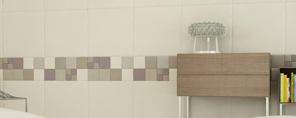 Lapèlle leather tile mosaic