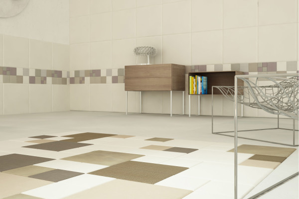 Letaher tiles for wall covering