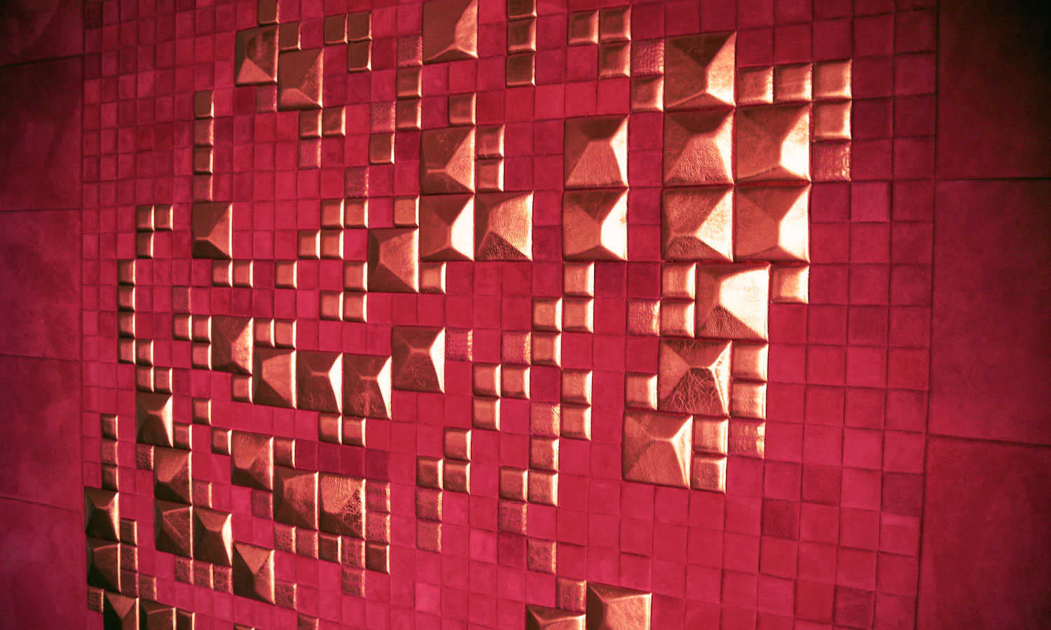 leather-wall-tiles-rose-mosaic-lapelle-design-leather-tiles(2 ...