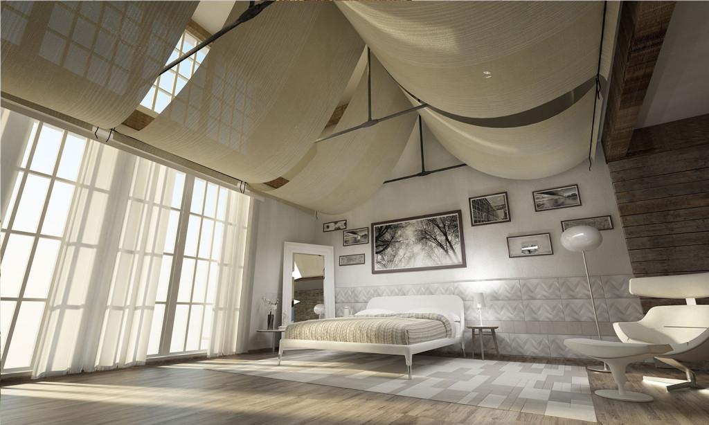 Camera da letto, rivestimento Lapèlle fonoassorbente