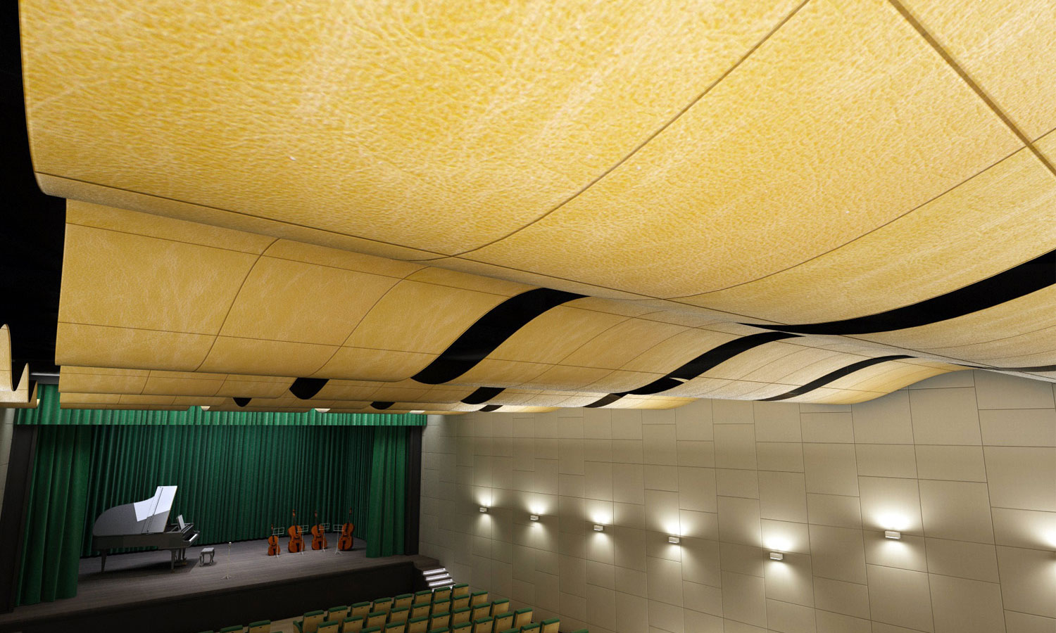 restaurant-soundproofing-lapelledesign-leather-tiles-for-flat-and ...