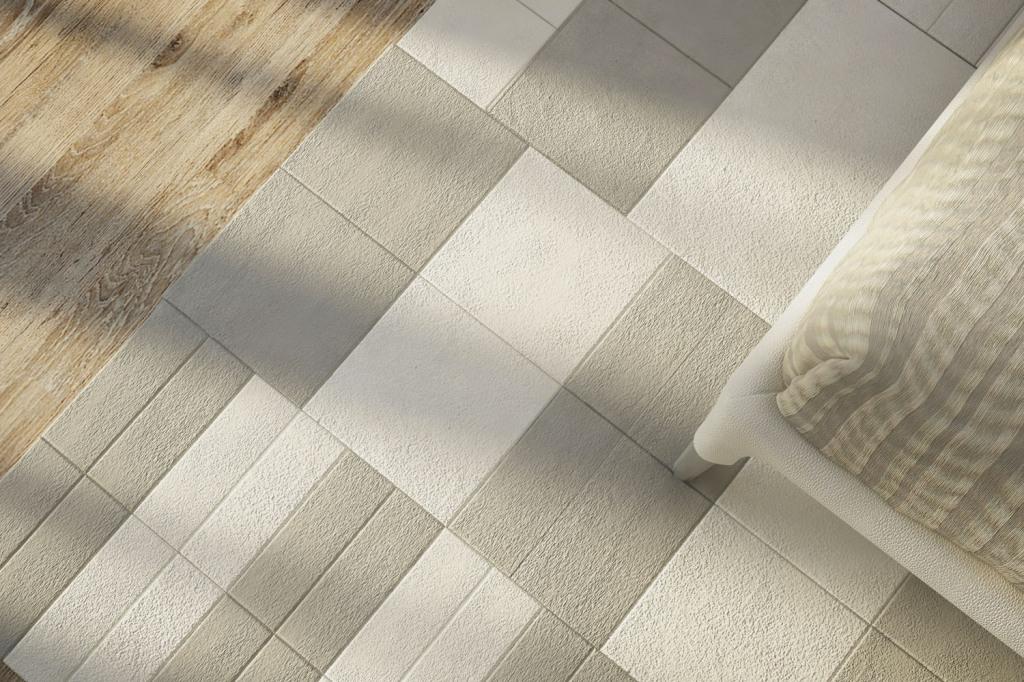 Lapèlle leather tiles carpet
