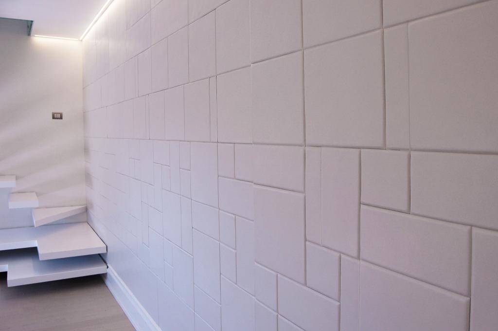 Piastrelle in pelle Lapèlle - composizione in bianco