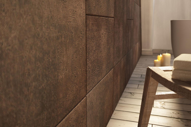Luna, your bathroom wears natural leather - Lapèlle